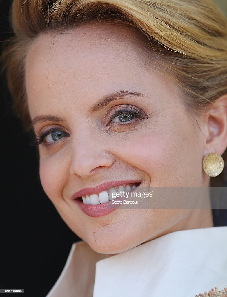 Mena Suvari attends the Lavazza marquee on Crown Oaks Day at Flemington Racecourse on November 8, 2012 in Melbourne, Australia.