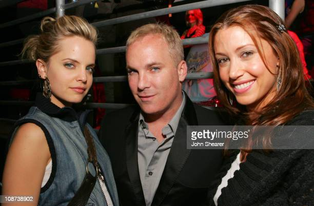 Mena Suvari, David Pinsky and Shannon Elizabeth during Motorola's Seventh Anniversary Party to Benefit Toys for Tots - Inside at American Legion in...