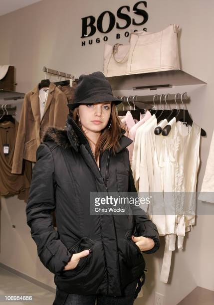 Mena Suvari during Grand Opening of The Newly Renovated Hugo Boss Flagship Store on Rodeo Drive Inside at Hugo Boss in Beverly Hills California...