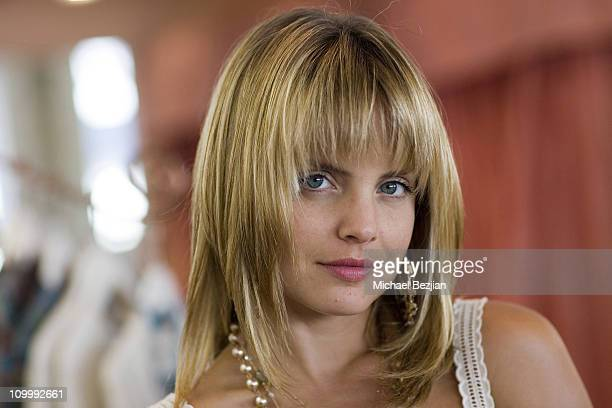 Mena Suvari during Mena Suvari Visits Envie Boutique in Beverly Hills May 31 2006 at Envie Boutique in Beverly Hills California United States