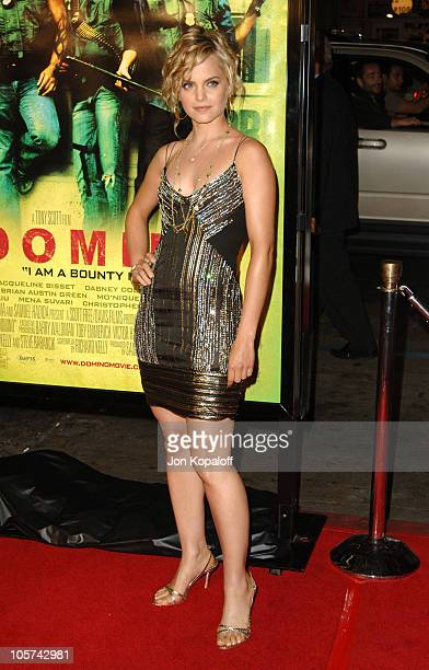 Mena Suvari during New Line Cinema's 'Domino' Los Angeles Premiere Arrivals at Grauman's Chinese Theater in Hollywood California United States
