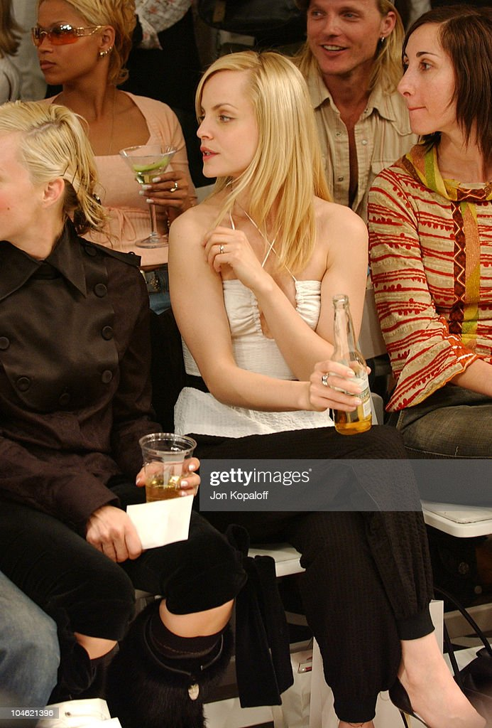 Mena Suvari during Playstation 2 Hosts Shawn At L.A. Fashion Week-Fashion Show and Party at The Standard Hotel Downtown in Los Angeles, California, United States.