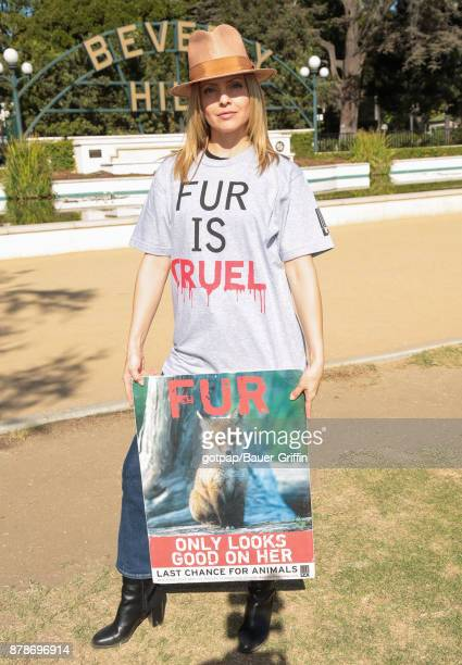 Mena Suvari is seen on November 24 2017 in Los Angeles California