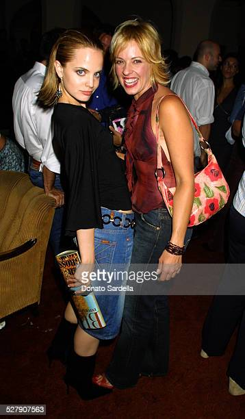 Mena Suvari Lisa Arturo during MAC Bombshell Manual of Style Reading Party at Chateau Marmont Hotel in West Hollywood California