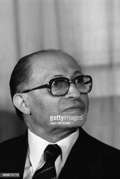 Menahem Begin à Oslo lors de la remise de son prix Nobel le 11 décembre 1978 Novège