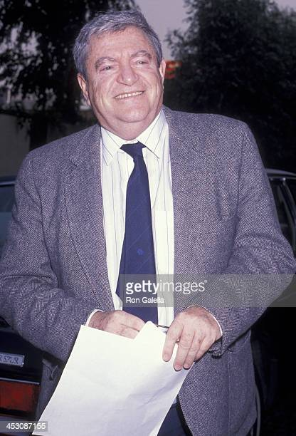 Menahem Golan attends Los Angeles Film Critics Circle Awards on January 24 1989 at the Bel Age Hotel in Los Angeles California