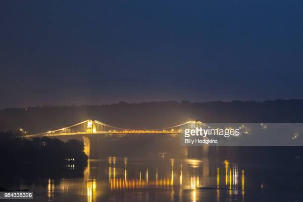 menai bridge, menai straits - menai bridge stock photos and pictures