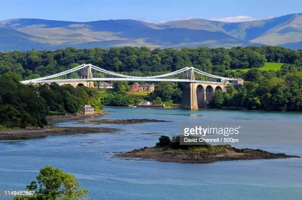 menai suspension bridge - menai bridge - fotografias e filmes do acervo