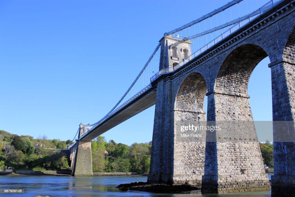 Menai Suspension Bridge : Stock Photo