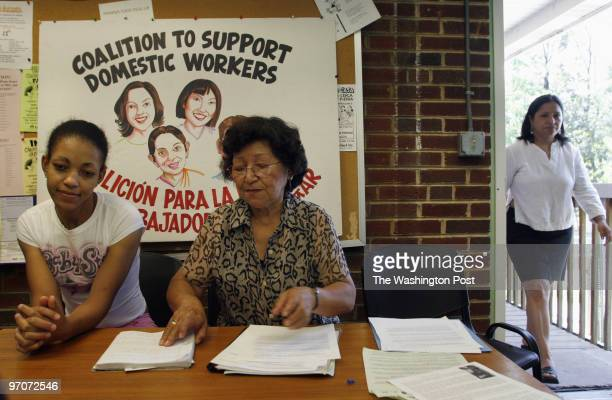 September 3 2007 CREDIT Carol Guzy/ The Washington Post Silver Spring MD Domestic worker organizations across the US join together to announce...