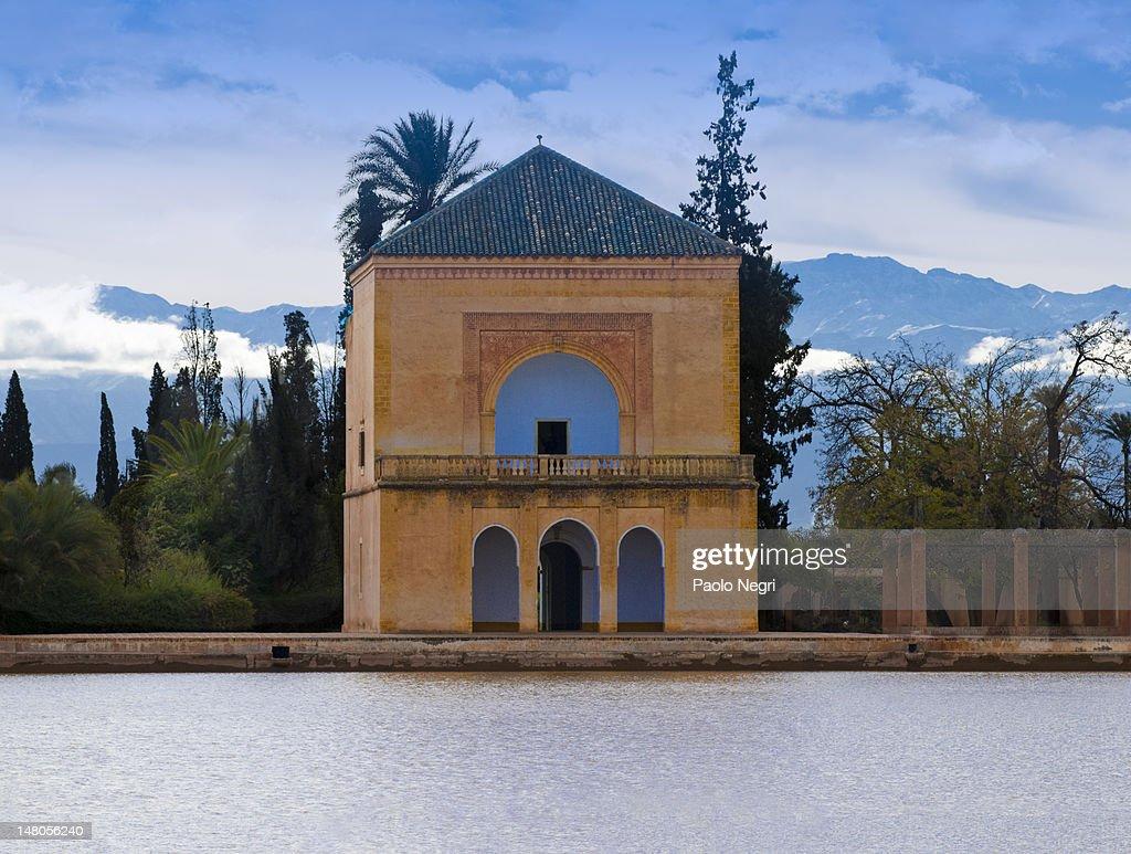 Menara Gardens Pavilion Marrakech Stock Photo | Getty Images