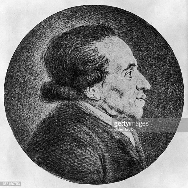 Mendelssohn Moses Philosoph Literaturkritiker D Portrait nach einer Roetelzeichnung von Chodowiecki undatiert