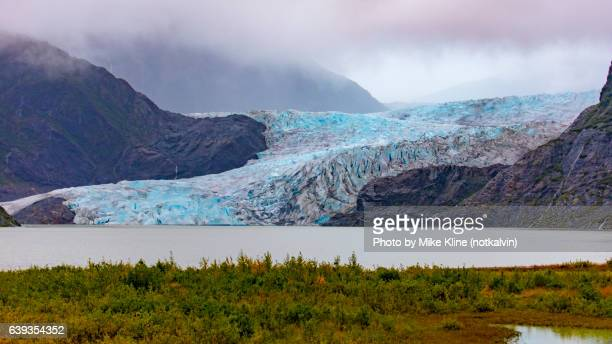 Mendenhall Glacier and mountains