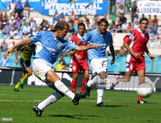 Mendieta Gaizka of Lazio in action during the Serie A 1st Round League match between Lazio and Piacenza played at the Olympic Stadium in Rome DIGITAL...