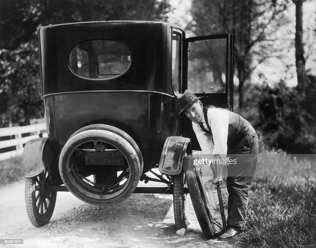 Mending A Puncture : News Photo