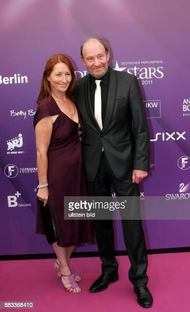 Mendl Michael Actor Germany with Birgit Wolff during award 'Duftstars' in Berlin Germany