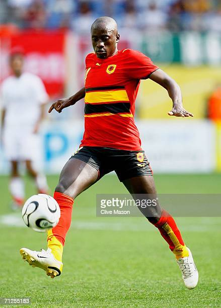 Mendonca of Angola controls the ball during the FIFA World Cup Germany 2006 Group D match between Iran and Angola played at the Zentralstadion on...