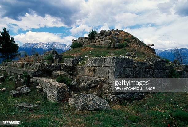 Menelaion sanctuary of the King Menealus hill of Therapne near Sparta Peloponnese Greece Greek civilisation 8th century BC