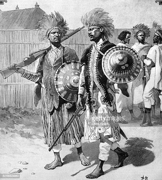 Menelik II Imperial Guards in Abyssinia or Ethiopia 1903