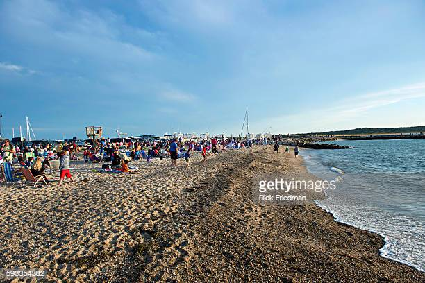 Menemsha Beach in the Town of Chilmark on Martha's Vineyard MA on August 15 2013 Menemsha is a fishing village best known for being the background of...