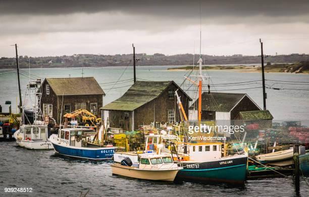 menemsha fish shacks - marthas vineyard stock pictures, royalty-free photos & images