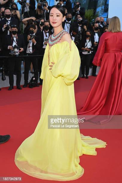 """Meng Li attends the """"Annette"""" screening and opening ceremony during the 74th annual Cannes Film Festival on July 06, 2021 in Cannes, France."""