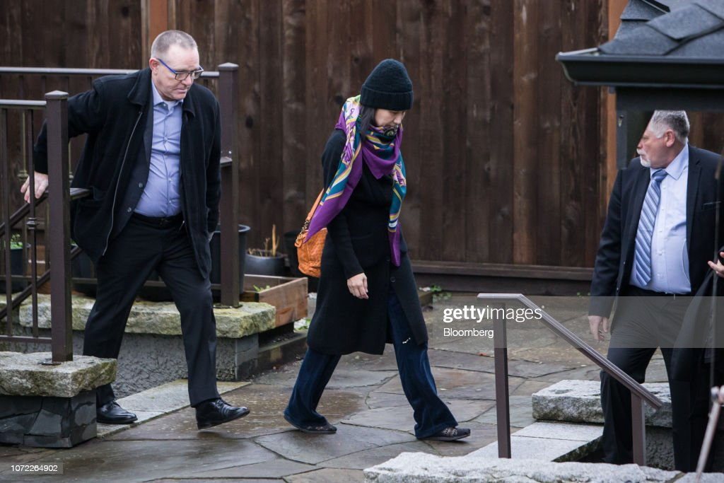 Huawei Technologies Chief Financial Officer Wanzhou Meng Out On Bail : News Photo