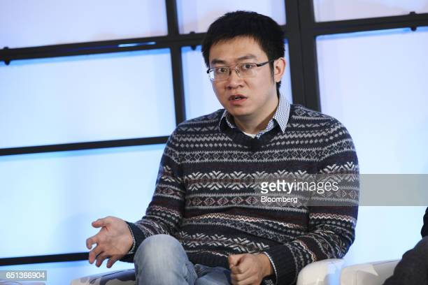 Meng Xing partner at Shunwei Capital speaks during the Montgomery Summit in Santa Monica California US on Thursday March 9 2017 The summit gathers...