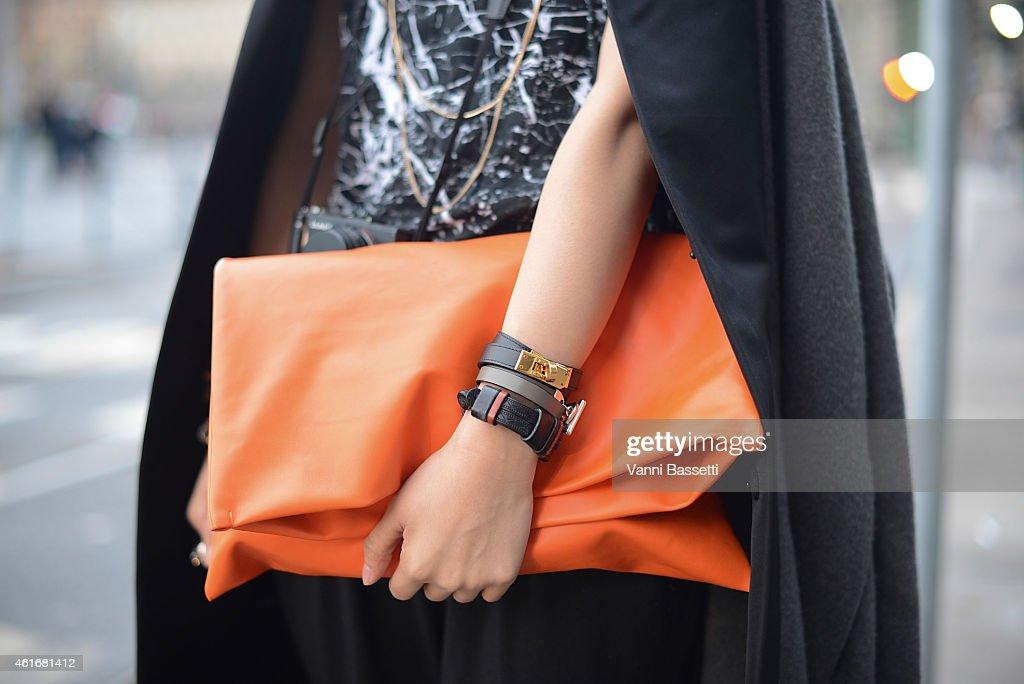 Street Style - Day 1 - Milan Menswear Fashion Week Fall/Winter 2015/2016 : News Photo