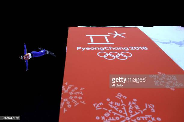 Mengtao Xu of China warms up ahead of the Freestyle Skiing Ladies' Aerials Final on day seven of the PyeongChang 2018 Winter Olympic Games at Phoenix...