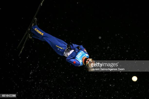 Mengtao Xu of China wins the bronze medal during the FIS Freestyle Ski Snowboard World Championships Aerials on March 10 2017 in Sierra Nevada Spain
