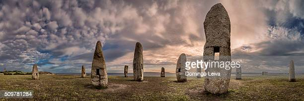 menhirs in a coruña, galicia. spain - a coruña stock pictures, royalty-free photos & images