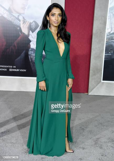 Menik Gooneratne arrives at the Premiere Of Universal Pictures' Mortal Engines at Regency Village Theatre on December 5 2018 in Westwood California