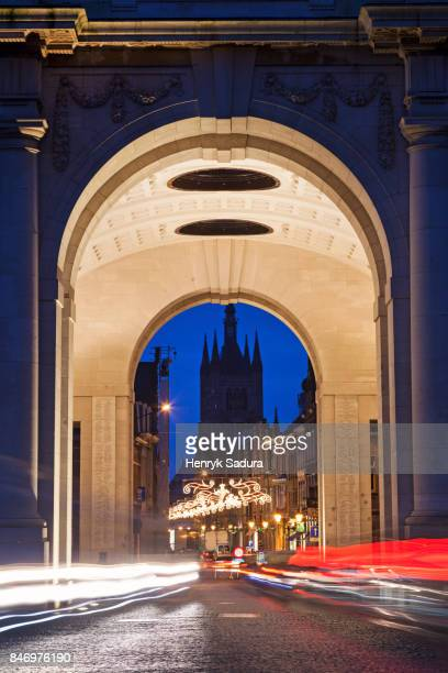 Menin Gate and Belfry of Clothes Hall in Ypres