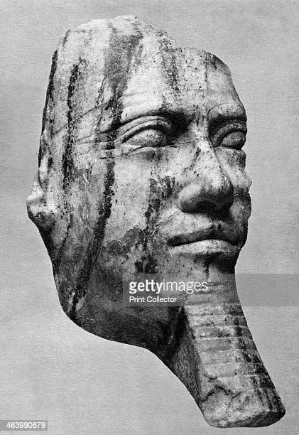 Menkaura Ancient Egyptian Pharoah 1936 Found in the collection of the Universität Leipzig Plate taken from The Art of Ancient Egypt published by the...