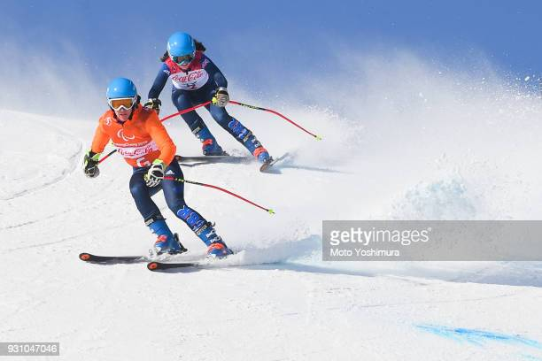 Menna Fitzpatrick of Great Britain competes in the Women's SuperG Visually Impaired on day two of the PyeongChang 2018 Paralympic Games on March 11...