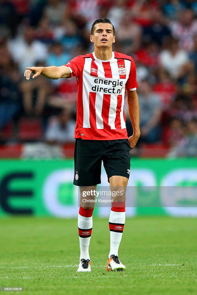 Menno Koch of Eindhoven issues instructions during the friendly match between FC Eindhoven and PSV Eindhoven at Philips Stadium on July 26, 2016 in Eindhoven, Netherlands.