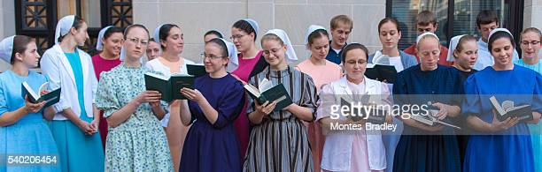 Mennoniten-Chor in Downtown Mall