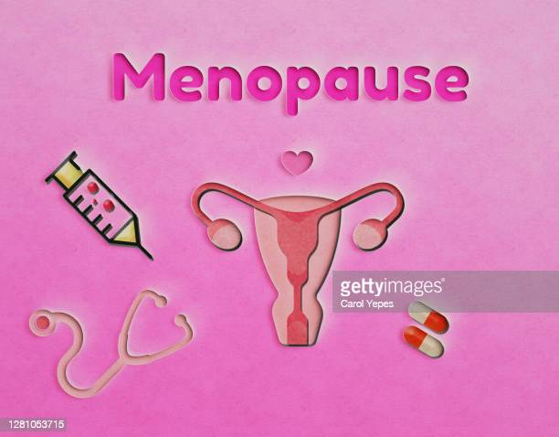 menopause craft paper concept - fornix stock pictures, royalty-free photos & images