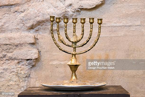 Menorah in the medieval synagogue in the old Juderia