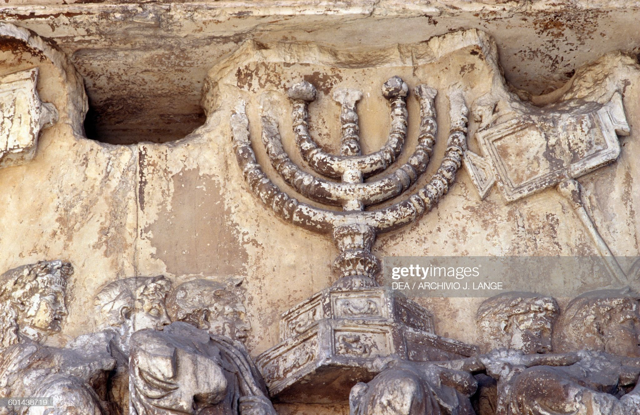 Menorah, Trophies from Jerusalem, Arch of Titus : News Photo
