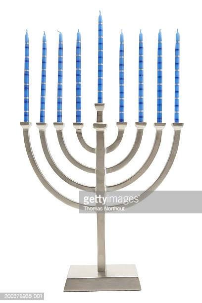 Menorah with candles