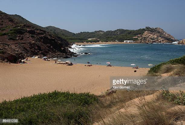 Menorca Balearics Islands Spain Binimel·là beach and Pregonda cove