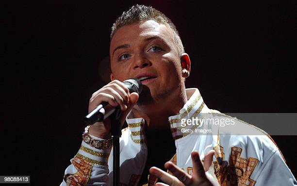 Menowin Froehlich performs during the 6 show of the TV show 'Deutschland sucht den Superstar ' on March 27 2010 in Cologne Germany