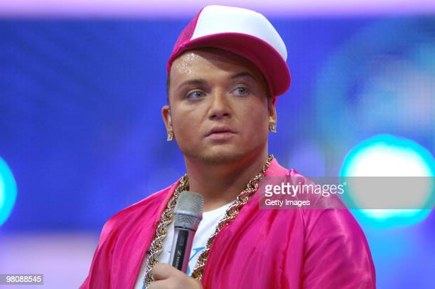Menowin Froehlich performs during the 6th episode of the TV show 'Deutschland sucht den Superstar' on March 27 2010 in Cologne Germany