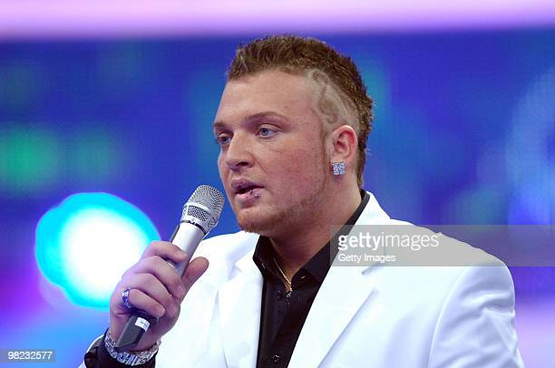 Menowin Froehlich performs during the contest DSDS Deutschland Sucht Den Superstar 7th Mottoshow on April 03 2010 in Cologne Germany