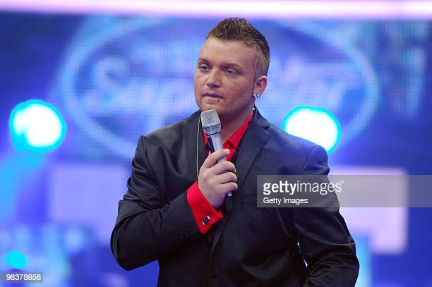 Menowin Froehlich performs during the contest DSDS Deutschland Sucht Den Superstar semifinal Mottoshow on April 10 2010 in Cologne Germany