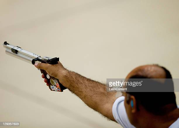 Men's 10m Air Pistol Qualification Round during Day Two of the XVI Pan American Games at the Pan American Shooting Range on October 16 2011 in...