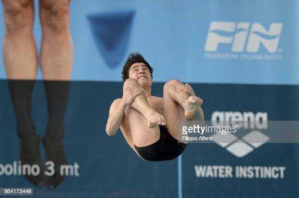 MenÕs 3m springboard Giulio Propersi during the Italian Diving Championships on April 21 2018 in Turin Italy