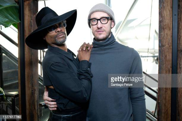 Men's Ambassador Billy Porter and Adam Smith at Pier 59 Studios on February 05 2019 in New York City